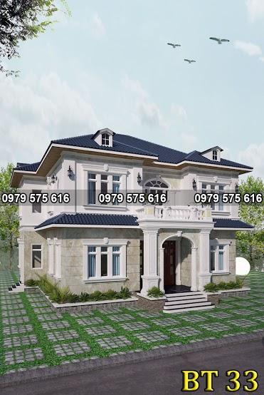 Thiết kế biệt thự mái thái (15x13m)