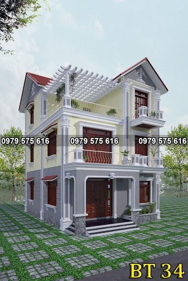 Thiết kế biệt thự mái thái (8.5x13m)