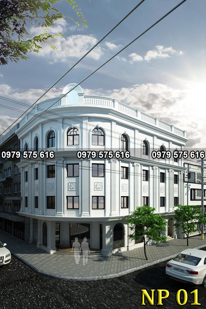 Thiết kế khách sạn tân cổ điển (12x20m)