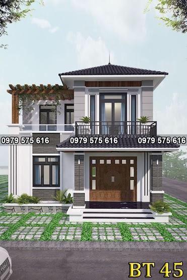 Thiết kế biệt thự mái thái (8x14m)