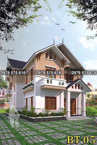 Thiết kế biệt thự mái thái (12x15m)