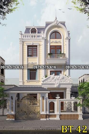 Thiết kế biệt thự tân cổ điển (8x15m)