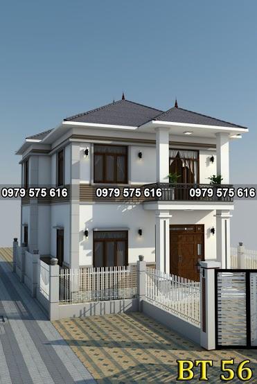 Thiết kế biệt thự mái thái (9.5x12m)