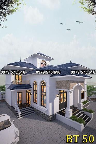 Thiết kế biệt thự mái thái (10x12.5m)