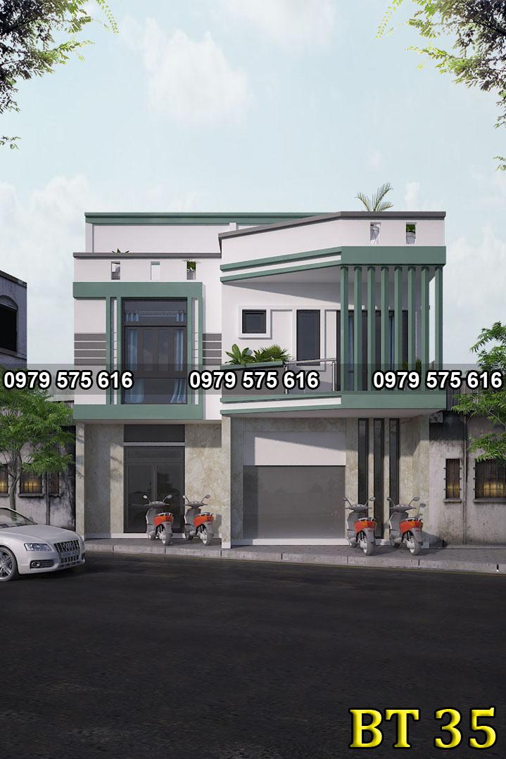 Thiết kế biệt thự hiện đại (9x10m)