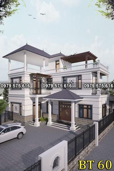 Thiết kế biệt thự mái thái (9x15m)