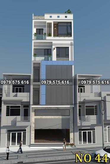 Thiết kế nhà ống 5 tầng (6.5x14m)