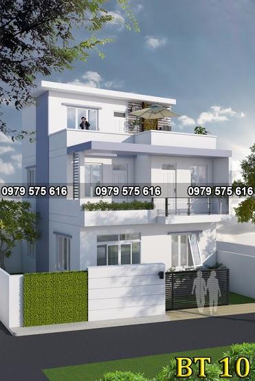 Thiết kế biệt thự hiện đại (9.5x8m)