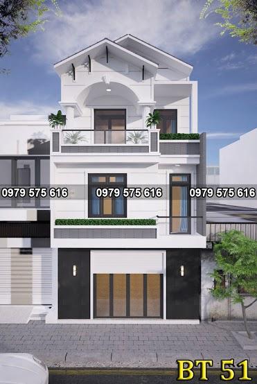 Thiết kế biệt thự mái thái (6x20m)