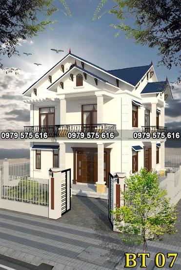 Thiết kế biệt thự mái thái (9x12m)