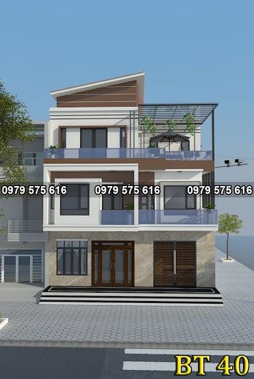 Thiết kế biệt thự hiện đại (9.5x11m)