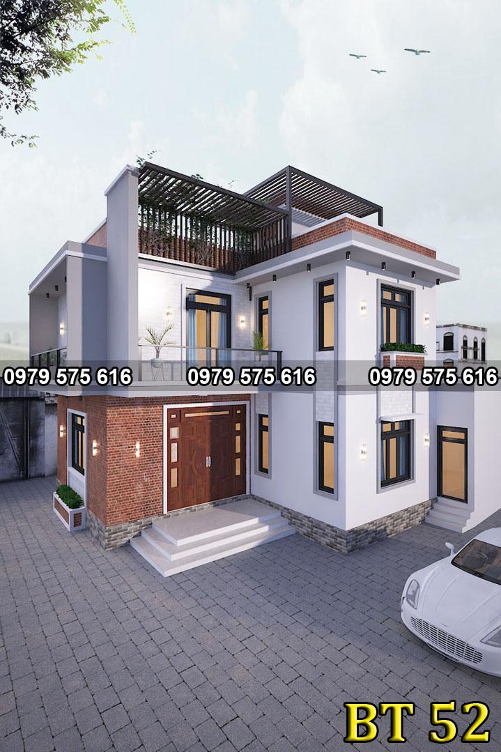 Thiết kế biệt thự hiện đại (13x10m)