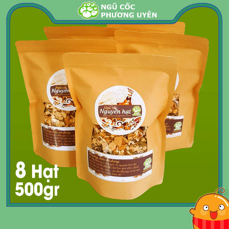 Ngũ cốc nguyên hạt Phương Uyên 8 loại hạt dinh dưỡng hộp 500g