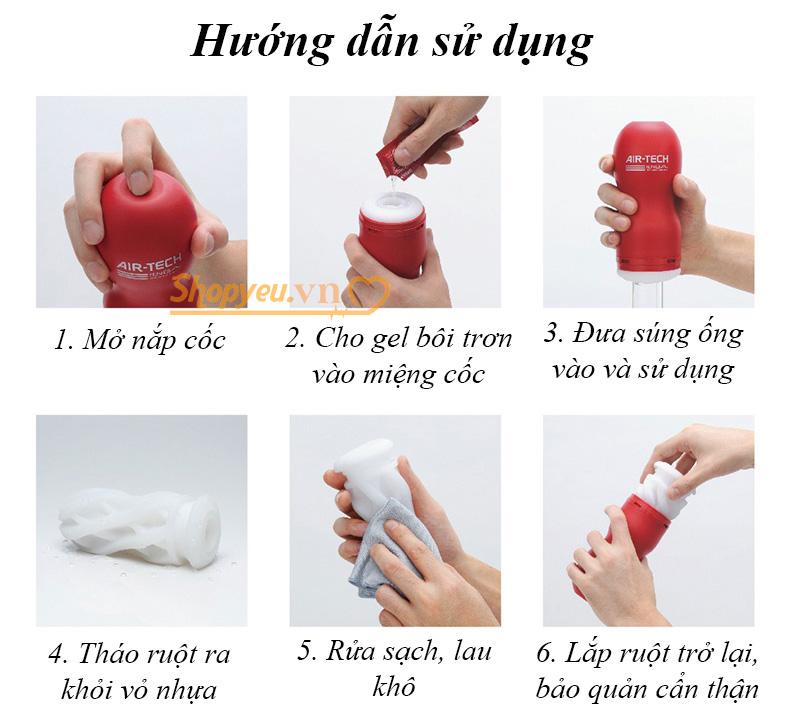 cách sử dụng cốc thủ dâm Air Tech Tenga