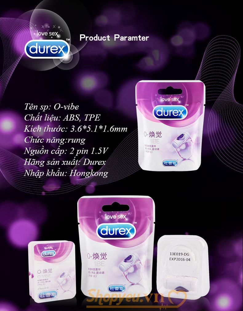 thông tin Vòng rung tình yêu Durex Vibration Ring chính hãng