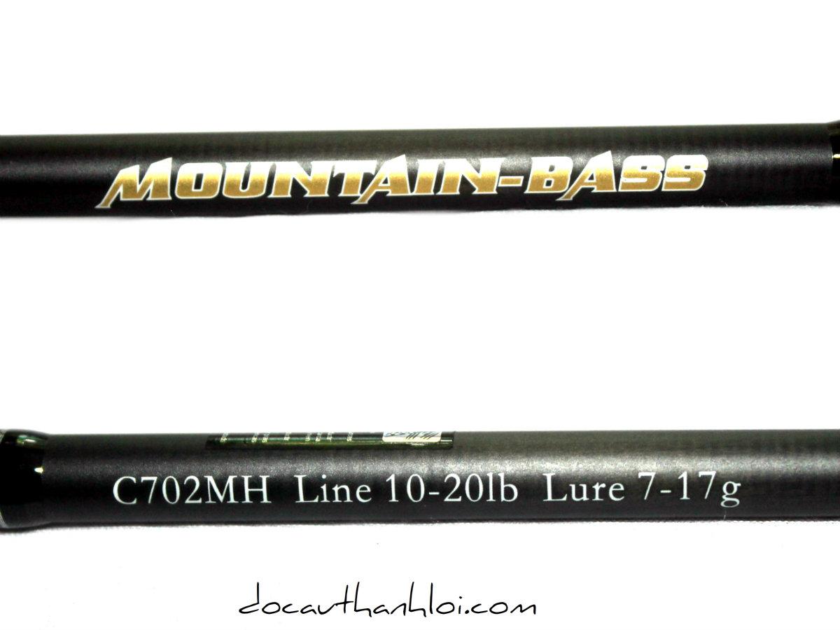Cần lure (máy ngang) MOUNTAIN BASS 2m1