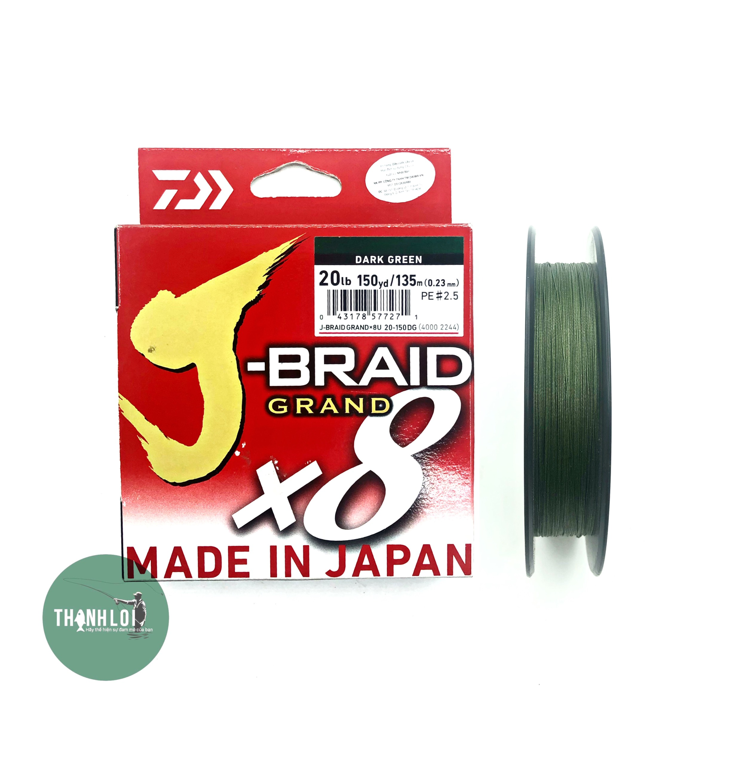 DD010 Dây dù Daiwa J-Braid X8 (150m)
