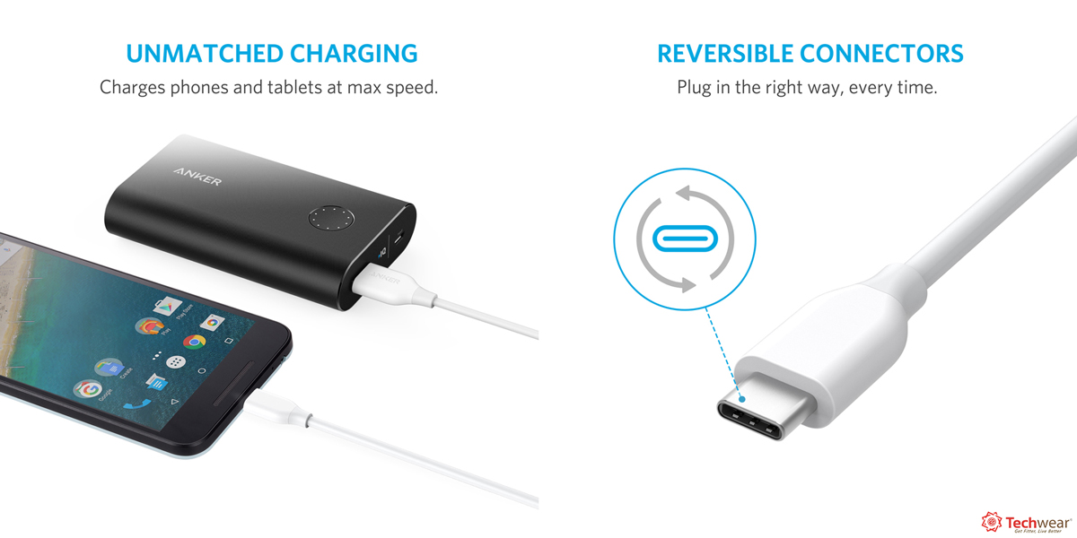 Cáp Anker PowerLine 1.8m USB-C ra USB 3.0