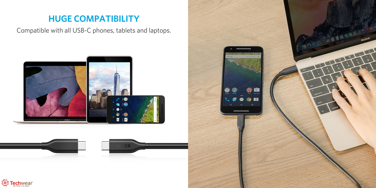 Cáp Anker PowerLine USB-C ra USB-C 3.1