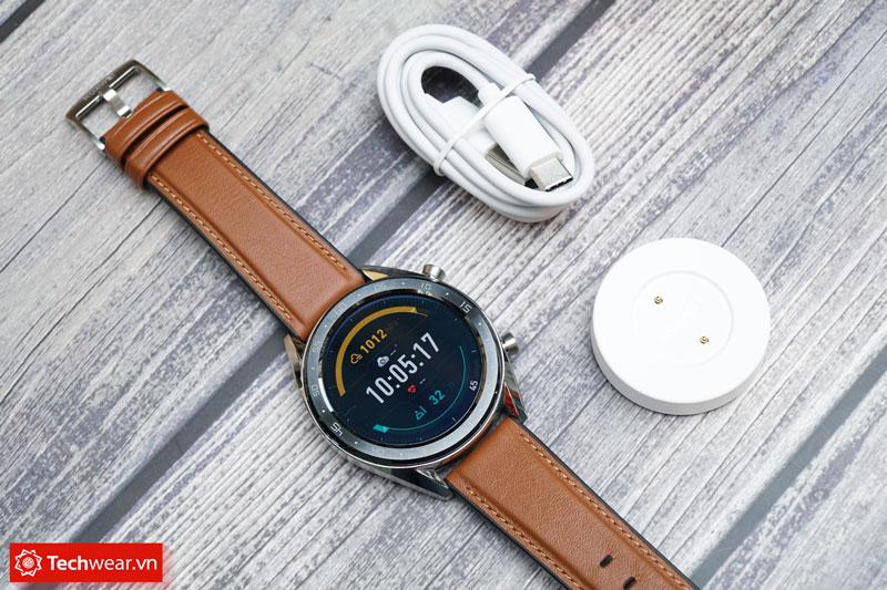 đồng hồ thông minh Huawei Watch GT mới màu bạc moonlight silver