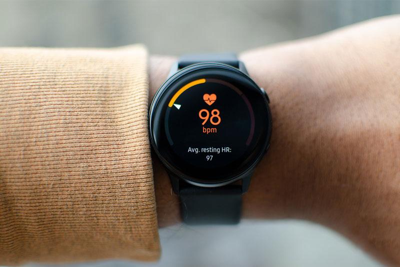 Tính năng theo dõi nhịp tim trên Samsung Galaxy Watch Active 1