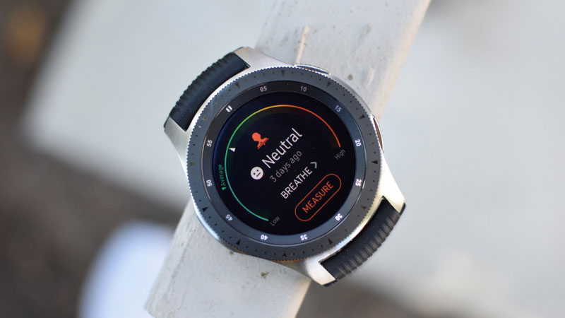 đánh giá Samsung Galaxy Watch Techwear stress
