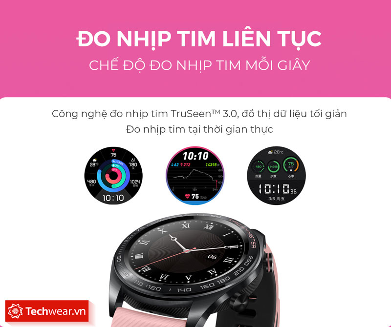 honor watch magic dream màu hồng