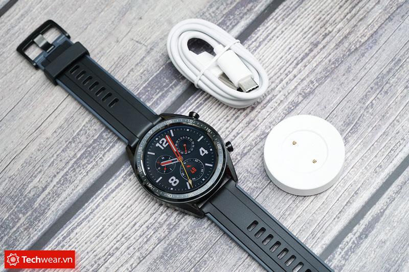 đồng hồ thông minh smartwatch Huawei Watch GT màu đen sport