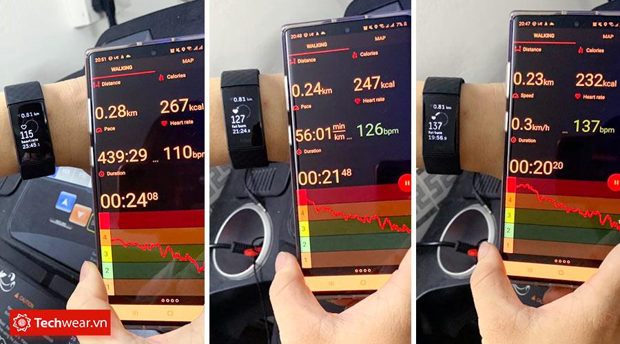 Dữ liệu nhịp tim trên điện thoại