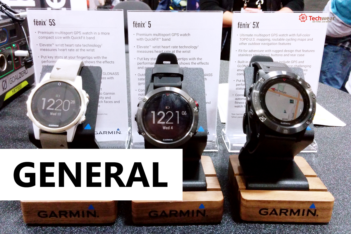 Phân biệt đồng hồ thể thao GPS Garmin Fenix 5, 5S và 5X | TechWear vn