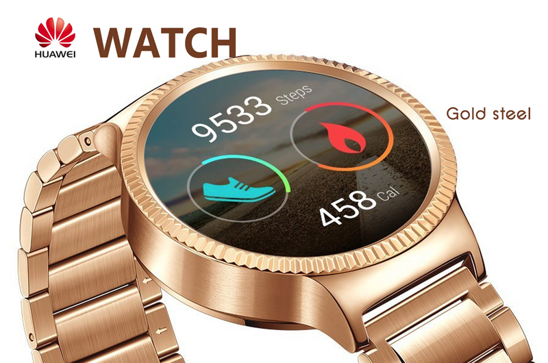 Huawei Watch - (Gold Steel)