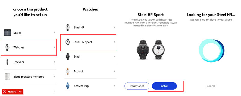 Cách kết nối Withings Steel HR Sport với điện thoại Android