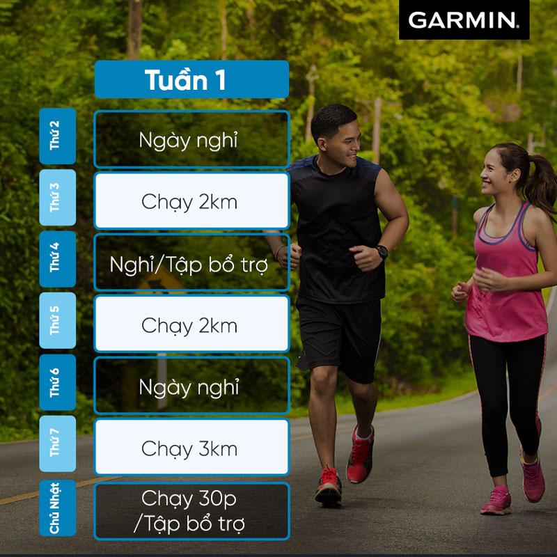 lịch tập chạy bộ đường dài 10km