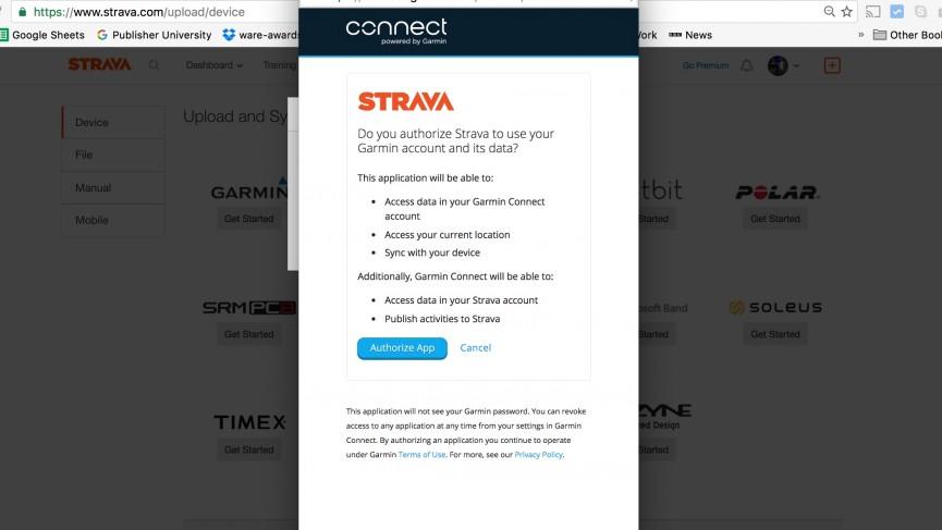 Hướng dẫn đồng bộ ứng dụng Garmin Connect và Strava