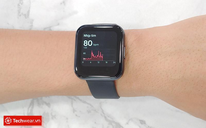 Đo nhịp tim trên Đồng hồ thông minh Realme Watch
