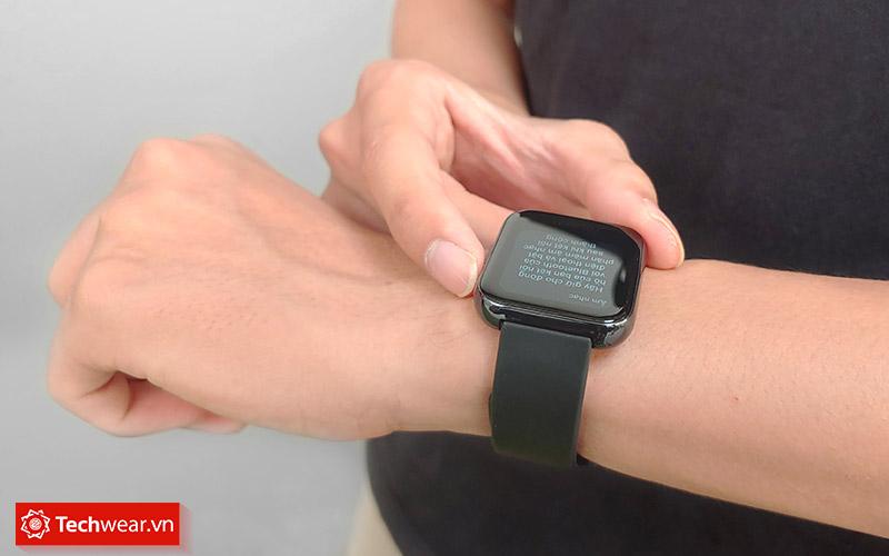 Đọc thông báo trên realme watch