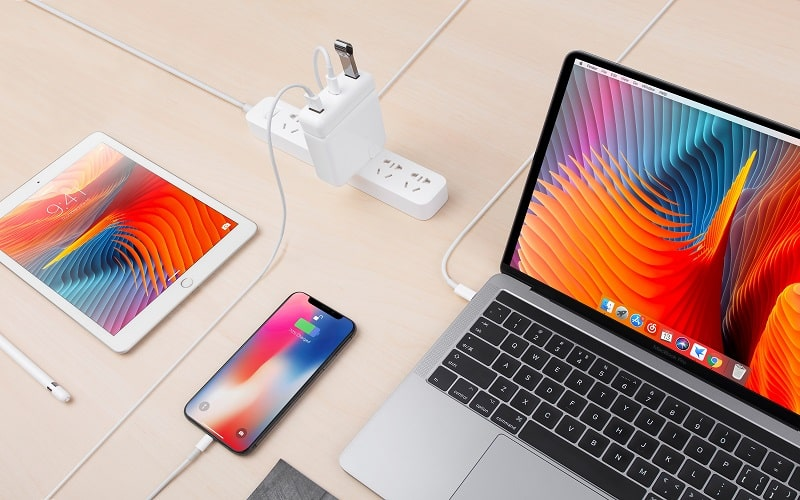 Sạc Kiêm Hub Macbook HyperDrive USB-C 61W Power Adapter