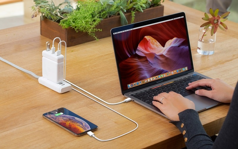 CỔNG CHUYỂN HYPERDRIVE USB-C FOR MACBOOK 87W POWER ADAPTER
