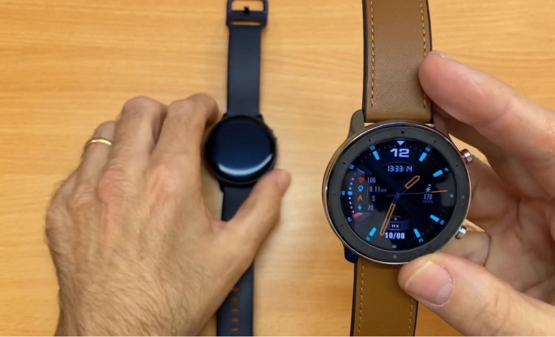 So sánh Galaxy Watch Active 2 vs Huami Amazfit GTR