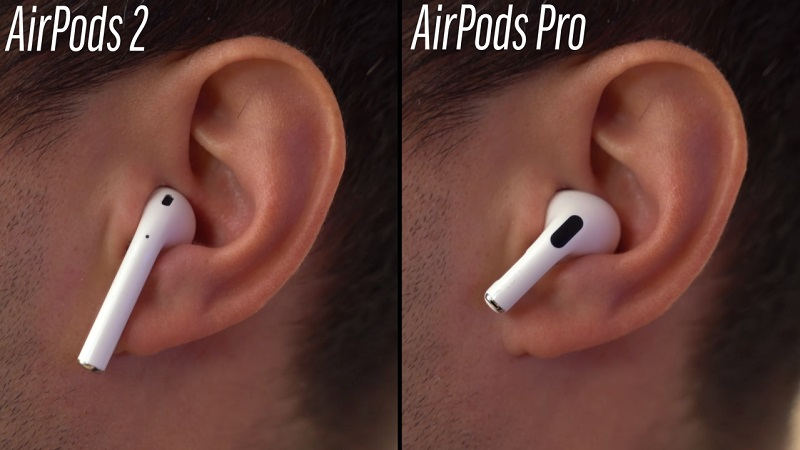 So sánh tai nghe Airpods Pro vs Airpods 2