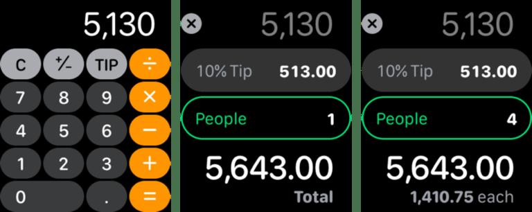 Ứng dụng Máy tính mới trên Apple Watch
