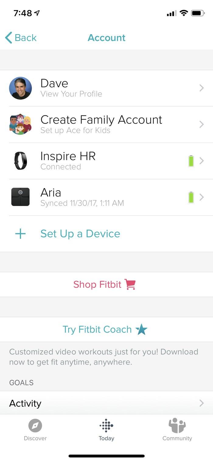 Xóa Tài khoản Fitbit từ ứng dụng