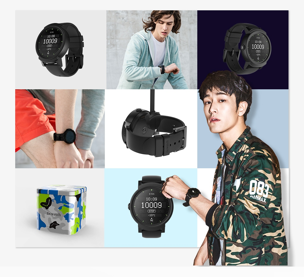 Ticwatch E phong cách Punk-Rock All-Black
