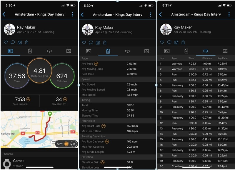 ứng dụng Garmin Connect Mobile