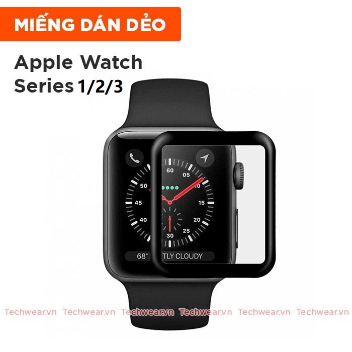 Miếng dán màn hình full viền cho Apple Watch Series 1/2/3