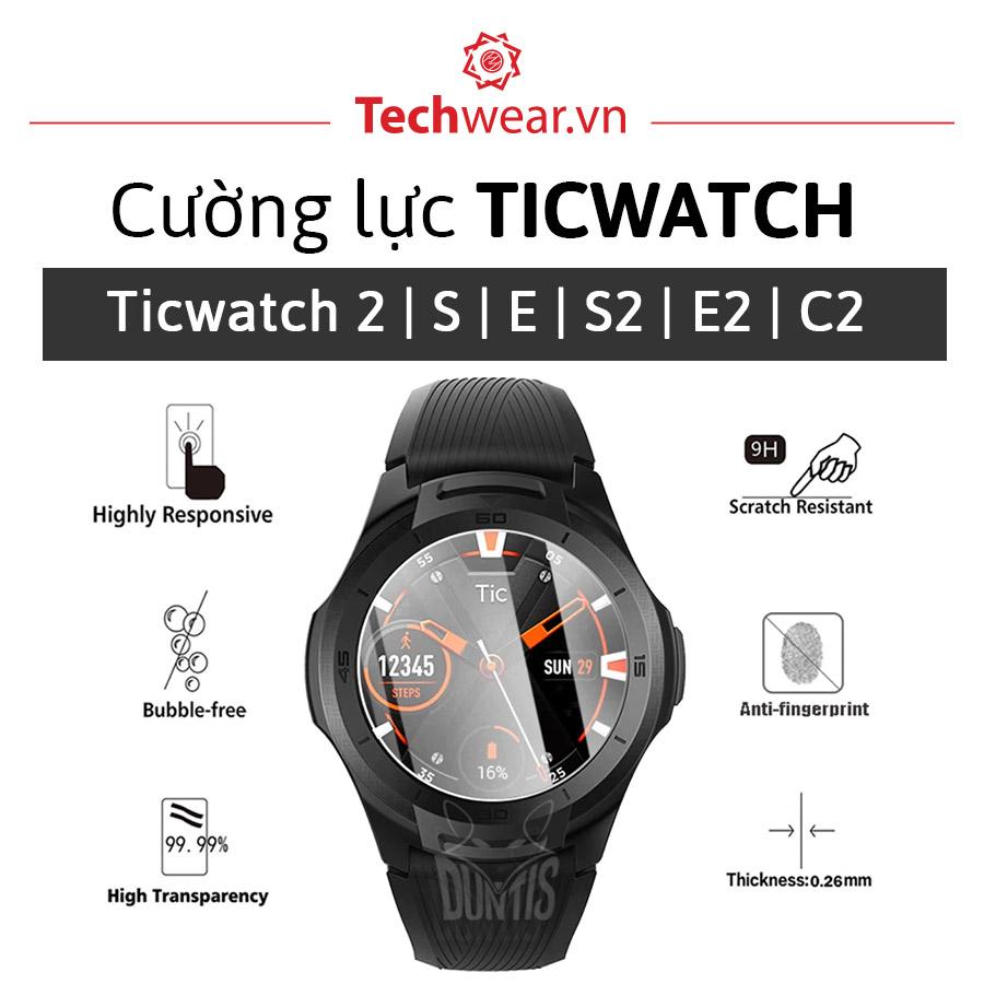 Kính cường lực đồng hồ Ticwatch S2 | E2 | C2