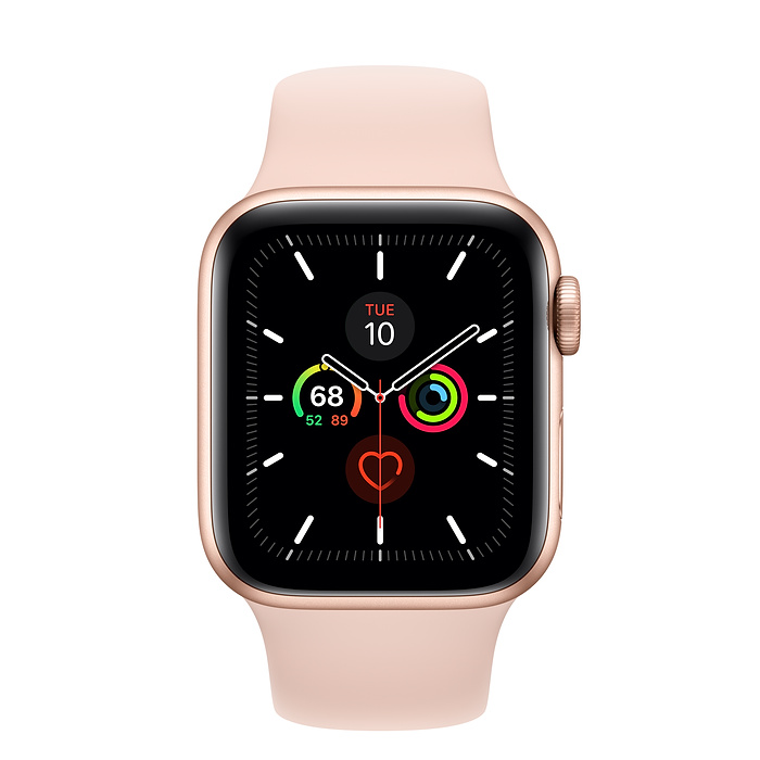 Apple Watch Series 5 Gold Aluminium Case with Pink Sand Sport Band