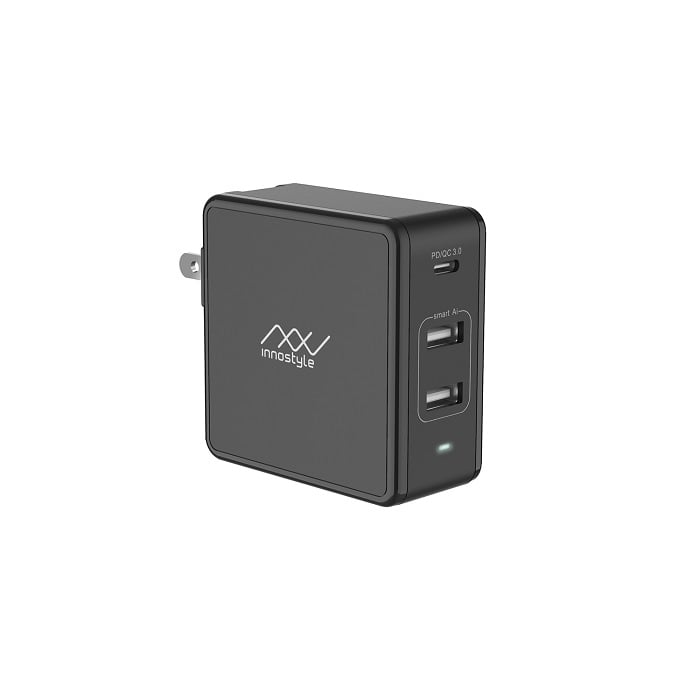 Sạc Đa Cổng Macbook InnoStyle GoMax Plus 73W (USB-C PD 61W + 2*USB A SMART AI)