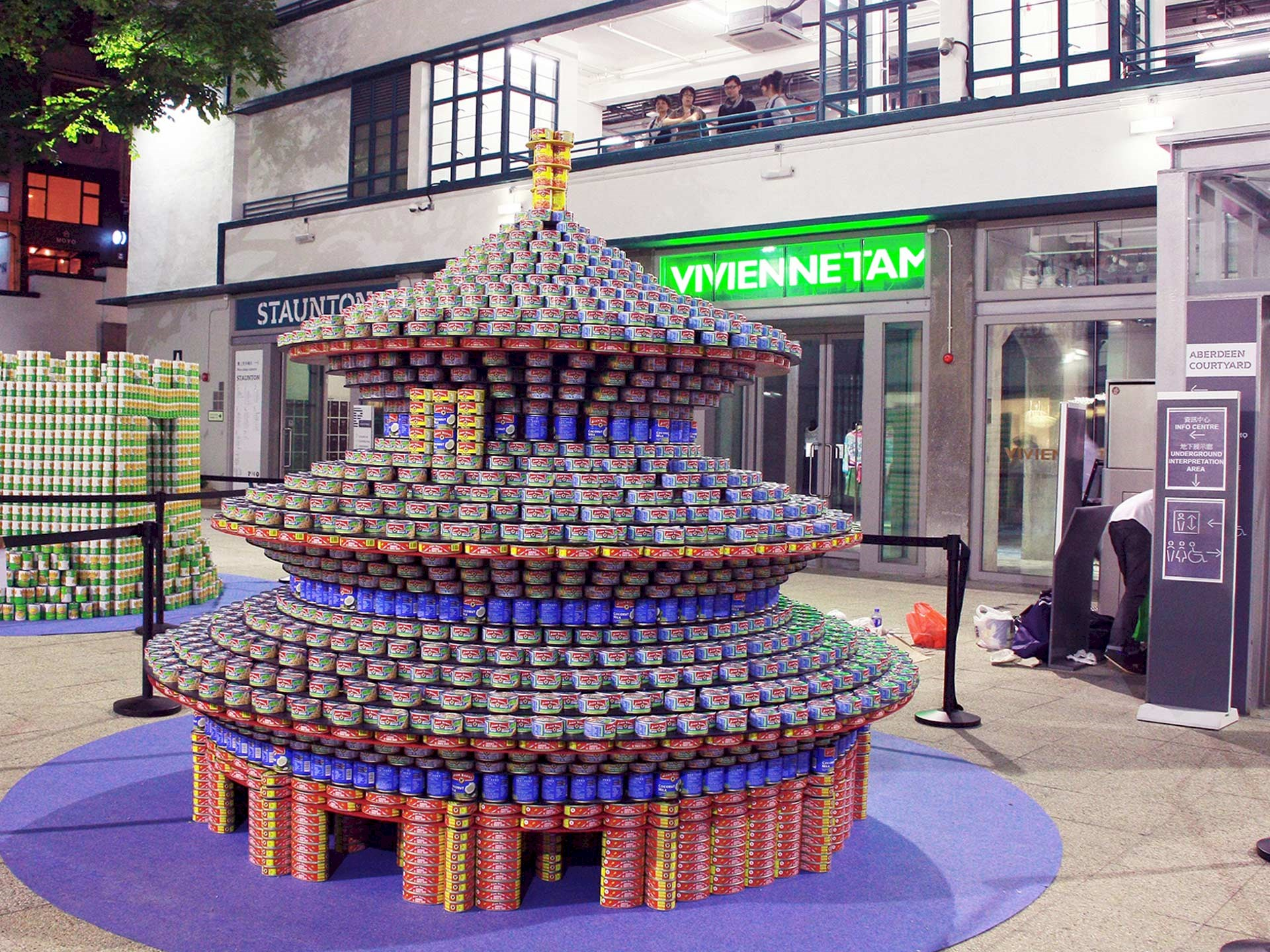 Benoy Builds 5,350-Can Temple of Heaven for Canstruction Hong Kong