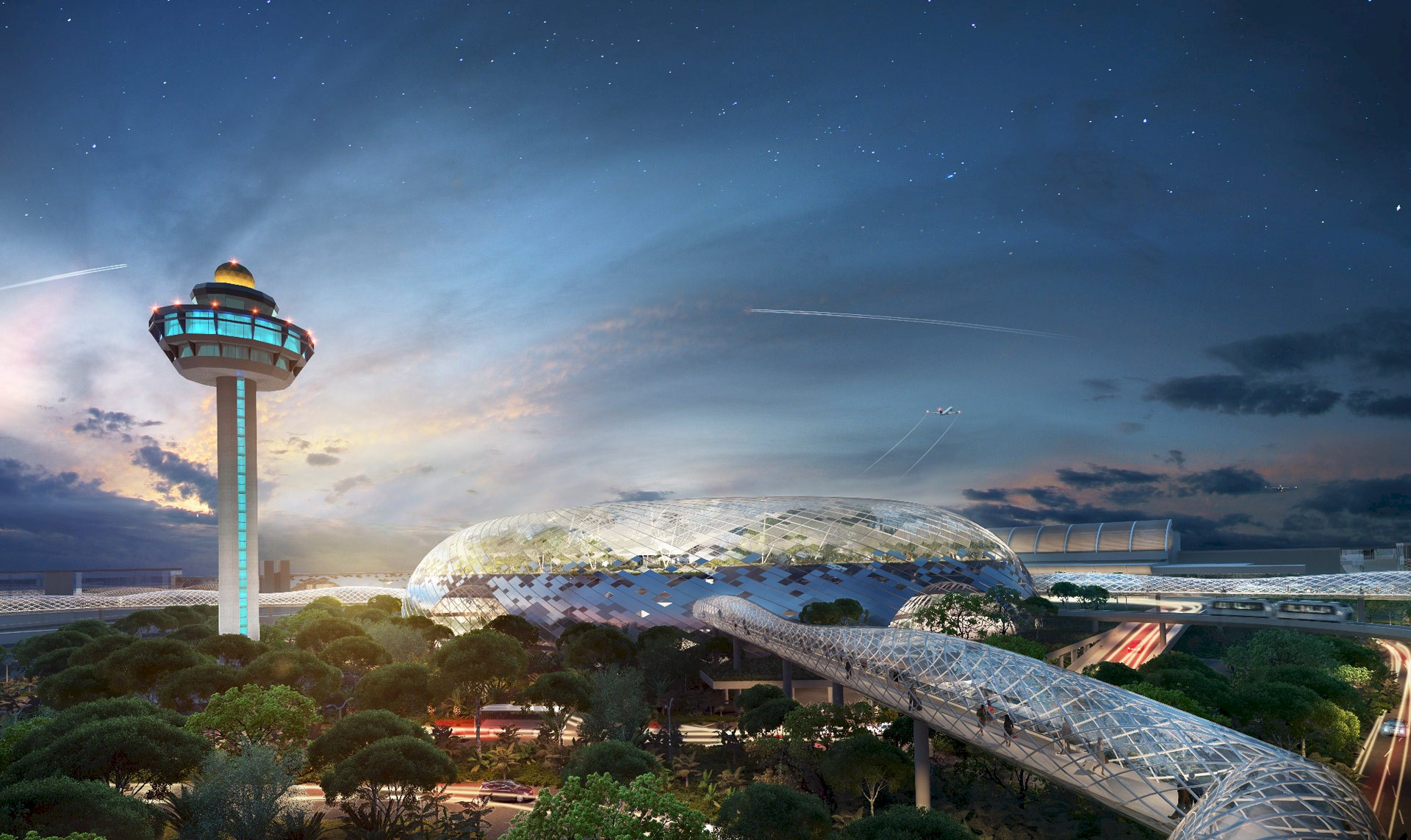 Groundbreaking of Jewel Changi Airport